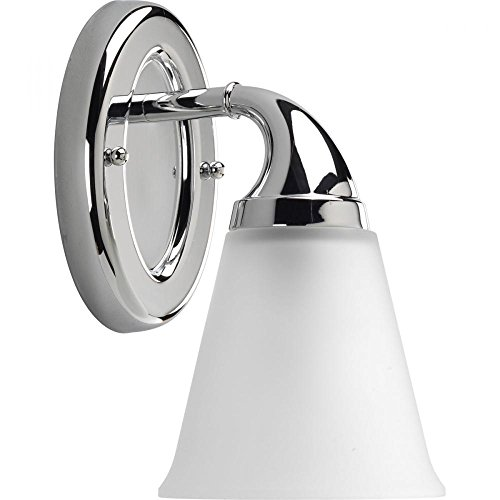 Progress-One Light Polished Chrome Etched Glass Bathroom - Etched One Light