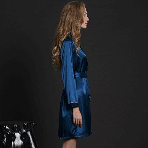 ZLR Estate a maniche lunghe Pigiama Ice Silk Dressing Gown Silk Thin Section Accappatoio Summer Home Clothes Accappatoio ( dimensioni : Xl )