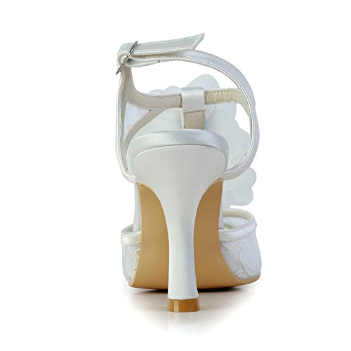 9cm White Minitoo Sandales pour femme Heel xFn4Bqnw6