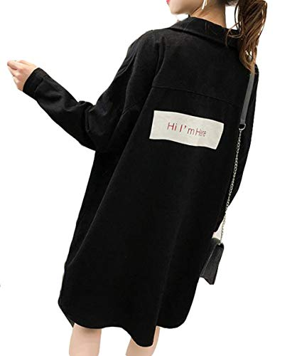 BSCOOLレディース トレンチコート 長袖 ゆったり ロングコート 無地 韓国ファッション コート 秋物アウター