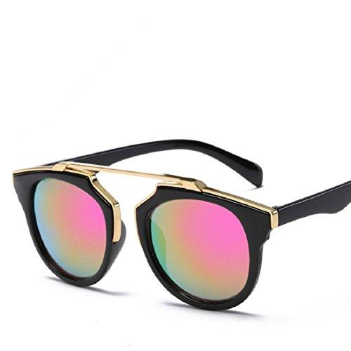 Fheaven Men Women Square Vintage Mirrored Sunglasses Eyewear Outdoor Sports Glasses with Box - Designer $5 Sunglasses
