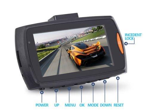 Dash CAM HD 1080P Coche DVR Grabador de conducci/ón C/ámara para Coche Monitor de Aparcamiento con visi/ón Nocturna G-Sensor detecci/ón de Movimiento Grabaci/ón en Bucle 170//° Gran Angular