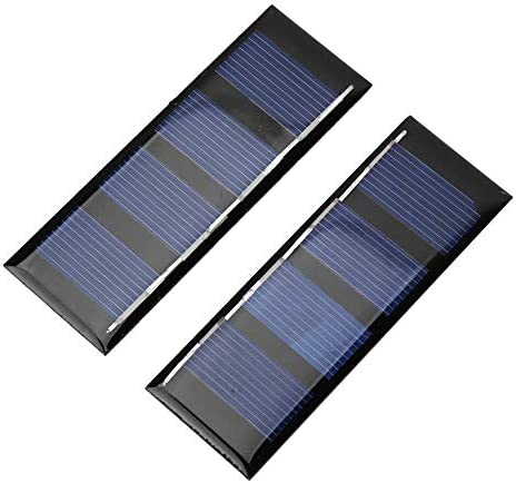 Dgtrhted 2V 0.2W Sonnenkollektor-Ladegerät Polykristalline Silizium Außenladestromversorgung 2 Stück