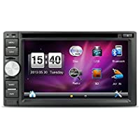 6.2inch Car GPS Navigation 2 din Universal Car DVD Stereo with USB Bluetooth free backup camera