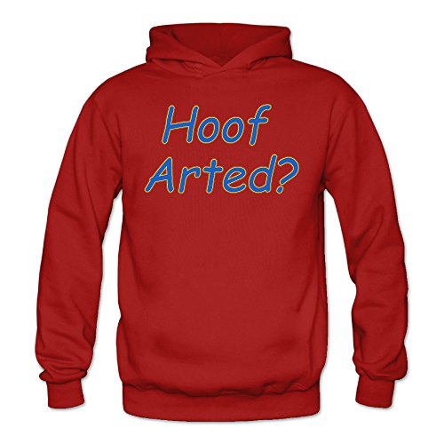 Hoof Arted Female Women's Sports Blank Hooded Sweatshirt Red