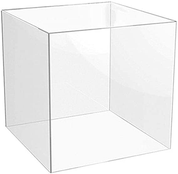 Caja de acrílico metacrilato expositor - 300 mm - claro cuadrado: Amazon.es: Oficina y papelería