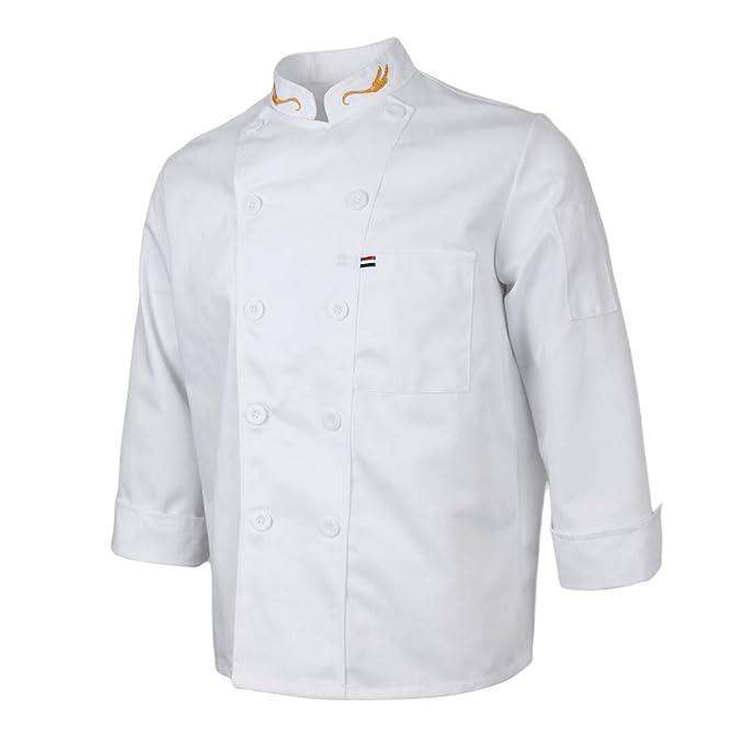 F Fityle Chaqueta de Chef Transpirable Camareros Guisanderos Manga Larga de Hotel Cinco Estrellas Cafetería Servicio de Comidas: Amazon.es: Ropa y ...