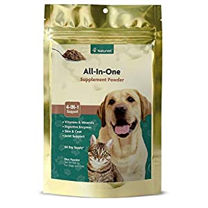 NaturVet – All-in-One Support – Helps Support Your Pet's Essential Needs & Overall Health – Digestion, Skin, Coat, Vitamins & Minerals, Joint Support – 13 oz Powder
