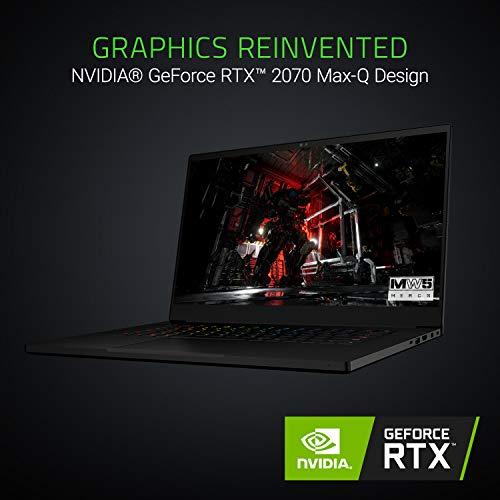 Razer Blade 15 Gaming Laptop - Intel Core i7-8750H 6 Core, GeForce RTX 2070 Max-Q, 15.6 FHD 144Hz, 16GB RAM, 512GB SSD, Chroma RGB Keyboard, Thunderbolt 3, 0.70 thin, CNC Aluminum
