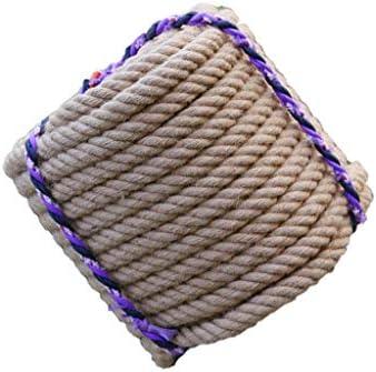 ZHWNGXO 24mm natürliches Hanfseil, trägt eine hohe Festigkeit Beständig Seil for Gärten Boating Pet 10m, 20m, 30m, 40m, 50m, 60m, 70m, 80m, 90m, 100m (Size : 30m)
