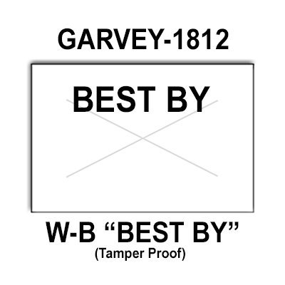 280,000 Garvey compatible 1812 ''Best By'' White General Purpose Labels to fit the G-Series 18-5, G-Series 18-6, G-Series18-7 Price Guns. Full Case + includes 20 ink rollers. by Infinity Labels