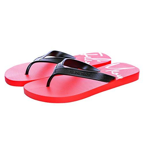 Red Men Memorygou Proof Slim Flops Black Flip Comfort Sandal Slippers Black for Women Beach Design rqqf6wU0x
