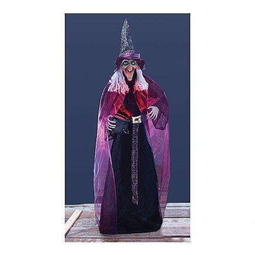Lifesize Witch With Animated Lighted Cauldron Halloween Stand (Cauldron Halloween)