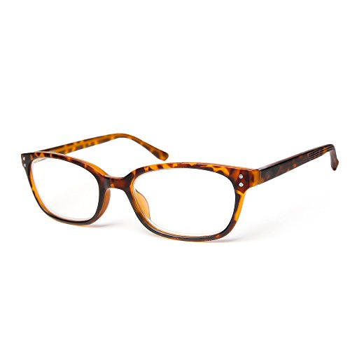 Reading Glasses_For Men and Women_Spring Hinge_Anti Blue Rays _Crystal Clear Vision_Pinch-Free_Comfortable Arms & Dura-Tight Screws_100% Comfortable (tortoise, - Cash Care Ray