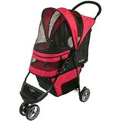 Gen7Pets Regal 3 Wheeled Foldable Pet Safety Outdoor Travel Stroller - Raspberry Sorbet , ,Home, garden & living||Pet supplies||Pet Carriers