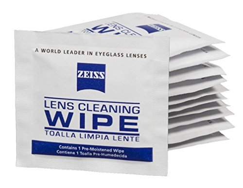 Zeiss Pre-Moistened Lens Cleaning Wipes, 6 x 5-Inches, 200 - Re Lens Glasses