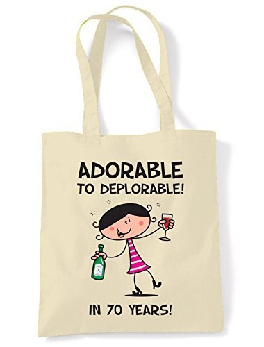 Adorable Tote Bag Women's Deplorable Shoulder 70th To Present Birthday rfzqr0w