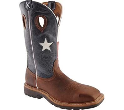 Amazon.com | Twisted X Men's Lite Pull-On Work Boot Steel Toe ...