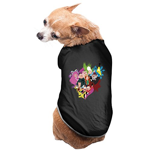 Mabel Sweater Costume (Black Gravity Falls Cartoon Dipper Mabel Hirsch Pet Supplies Dog Costumes Dog Sweater)
