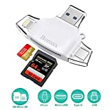 BOMAX Card Reader with USB 3.0, Adapter for Phone, Type C Connector Card