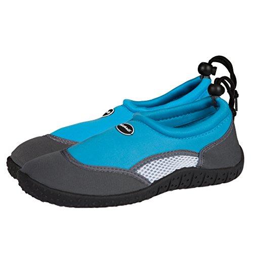 Damen Badeschuhe | Schwimmschuhe | Surfschuhe aus Neopren | Rutschfeste Gummisohle Blau