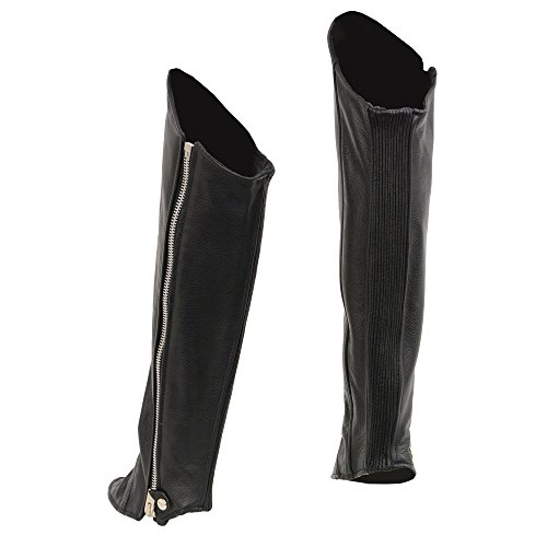 Milwaukee Leather Women's Knee High Half Chaps with Zipper Entry (Black, XX-Large/XXX-Large) by Milwaukee Leather (Image #1)