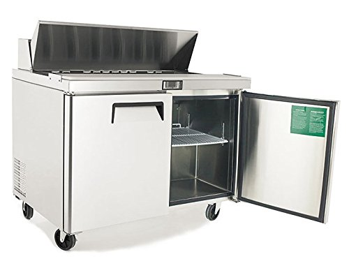 Atosa Usa MSF8303 Stainless Steel Sandwich Prep Table 60'' 2-Door Refrigerator