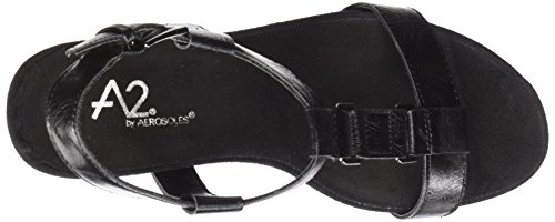 by Wedge Plush Black Aerosoles Nite Women A2 Sandal dqnfavd