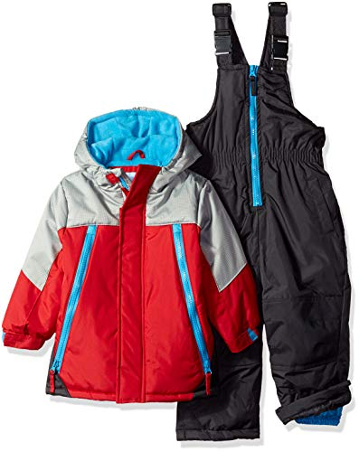 Wippette Baby Boys and Toddler Insulated Snowsuit, Colorblock Red, 3T