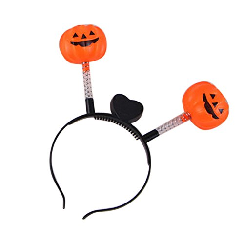 Halloween Headbands LED Pumpkin Skull Light Party Props Headbands Dress up Accessories (D) (Dress Up Pumpkin Halloween)