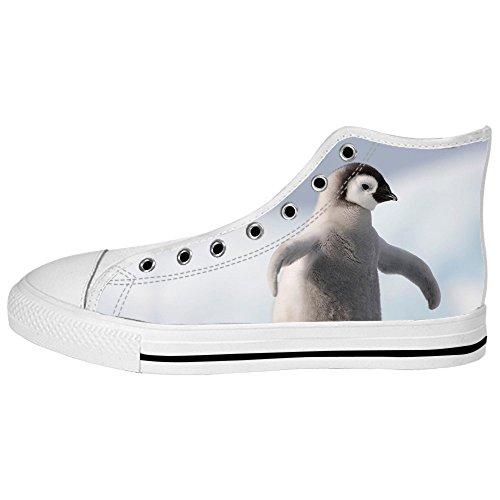 Les Chaussures De Toile Des Hommes De Pingouin Faits Sur Commande Les Lacets En Haut Au-dessus Des Chaussures De Baskets Chaussures De Toile.