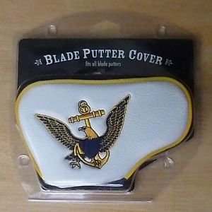 (Team Golf Military Navy Golf Club Blade Putter Headcover, Fits Most Blade Putters, Scotty Cameron, Taylormade, Odyssey, Titleist, Ping,)