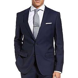 Hugo Boss C-Huge1S Jacket Virgin Wool Slim Fit Men's Blazer Dark Royal Blue Sport Coat by Hugo (38 Regular USA)