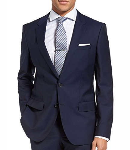 Hugo Boss C-Huge1S Jacket Virgin Wool Slim fit Men's Blazer Dark Royal Blue Sport Coat Hugo (38 Regular ()