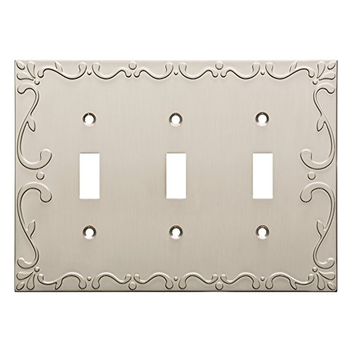(Franklin Brass W35078-SN-C Classic Lace Triple Switch Wall Plate/Switch Plate/Cover, Satin Nickel)