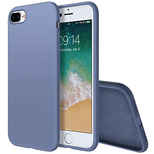 (Isuke iPhone 8 Plus Silicone Case, iPhone 7 Plus Silicone Case Gel Rubber Slim Fit Soft Cover Case Full Body Protection for Apple iPhone 7 Plus/iPhone 8 Plus(5.5