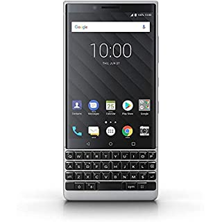 BlackBerry KEY2 Black Unlocked Android Smartphone (AT&T/T-Mobile) 4G LTE, (US Warranty (Silver, 64GB))