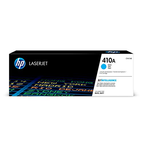 HP 410A (CF411A) Toner Cartridge, Cyan for HP Color LaserJet Pro M452dn M452dw M452nw MFP M377dw MFP M477fdn MFP M477fdw MFP M477fnw