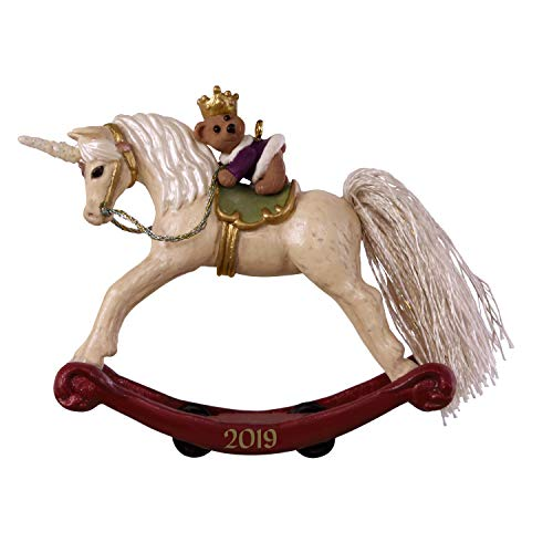 Hallmark Keepsake Ornament 2019 Year Dated A Pony for Christmas Unicorn Rocking Horse (Accents Rocking Horse Home)