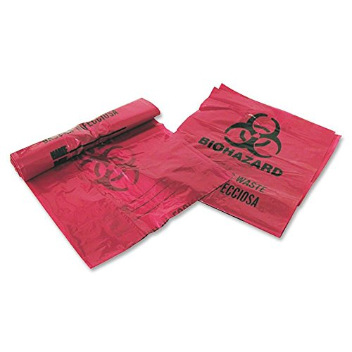 Medical Action Industries Inc. 03EB086000 Infectious Waste Bags,3 Gallon,14''x18-1/2'',200 Bags/BX,Red
