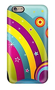New Arrival Cover Case With Nice Design For Iphone 6- Happy Rainbow