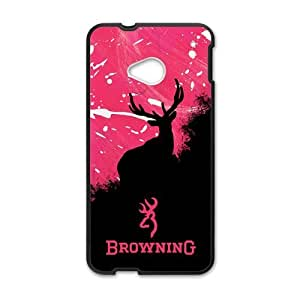 Browning Deer Logo Design Hard Case Cover Protector For HTC M7 by ruishername