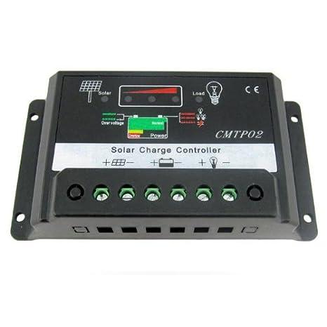 SODIAL(R)Controleur de charge 15A PWM Panneau solaire Batterie Regulateur  12V 24V Auto 066e9e65a6a7