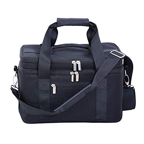 Large Thicken Folding Fresh Keeping Nylon Neoprene Beer Cooler Bag For Steak Insulation Thermal Insulation Ice Pack,Black ()