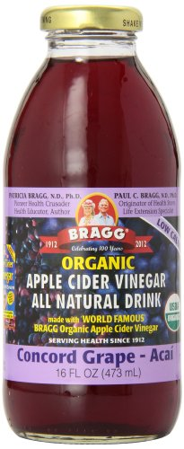 Cider Drinks Apple (Bragg Apple Cider Vinegar Drink, Concord Grape & Acai, 16-ounces (Pack of6))