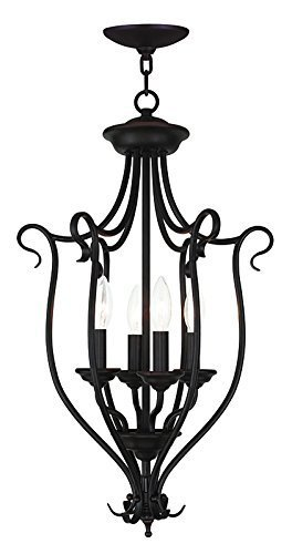 - Livex Lighting 6137-07 Coronado 4 Light Foyer Chandelier, Bronze by Livex Lighting