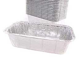 Disposable Aluminum 2 Lb. Loaf Pan , 8 X 3 7/8 X 2 19/32, By Handi- Foil (25)