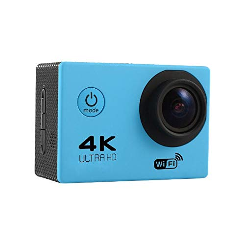 F60R Action Camera - F60R 4K Camera - F60 Sensor OV4689 4K 2.0inch 170 Wide Angle Lens Wifi Sport DV with Accessories - Blue (F60 Action Camera)