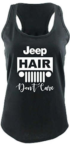Price comparison product image Beach,  Lake,  Jeep Hair,  Don't Care Flowy Ladies Bella Racerback Tank Top (X-Large,  Jeep Hair - Relaxed Jersey Tank)