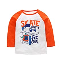 Toddler Baby Kids Girls Boys Dinosaur Pullover Crewneck Tops Letter Cartoon Animal T-shirt Outfits 1-5 Years